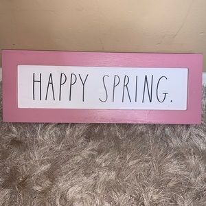Rae Dunn Happy Spring Wooden Sign
